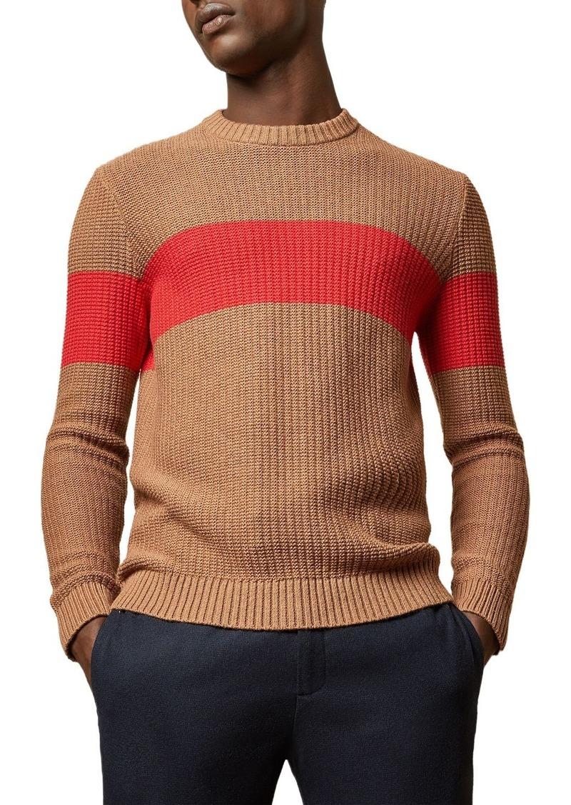 Ted Baker Witnes Colorblock Crewneck Sweater