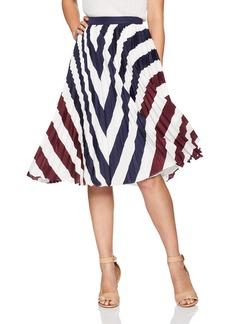 Ted Baker Women's Alliee Rowing Stripe Pleated Midi Skirt
