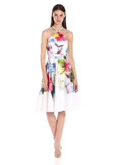 Ted Baker Women's Corpina Forgetmenot Floral Halterneck Dress