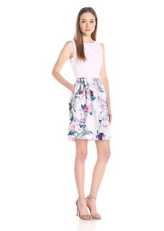 Ted Baker Women's Eilah Acanthus Scroll Print Fit and Flare Dress