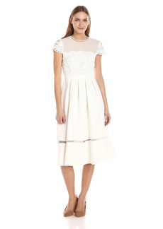 Ted Baker Women's Frizay Lace Bodice Full Midi Dress