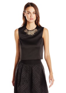Ted Baker Women's Jaby Embellished Cap Sleeve Top