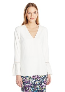 Ted Baker Women's Journe Long Line Top with Fluted Cuff