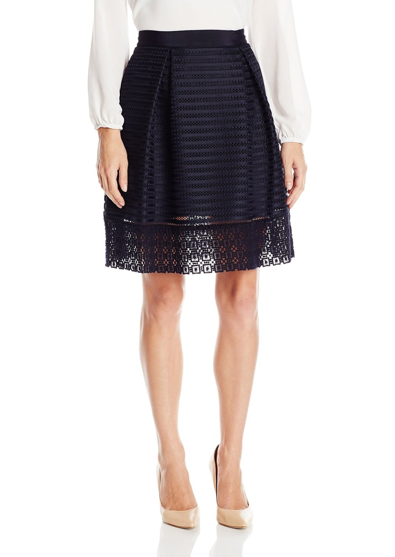 Ted Baker Women's Lotee Lace and Mesh Panelled Skirt