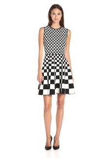 Ted Baker Women's Lowrel Mono Jacquard Knitted Dress
