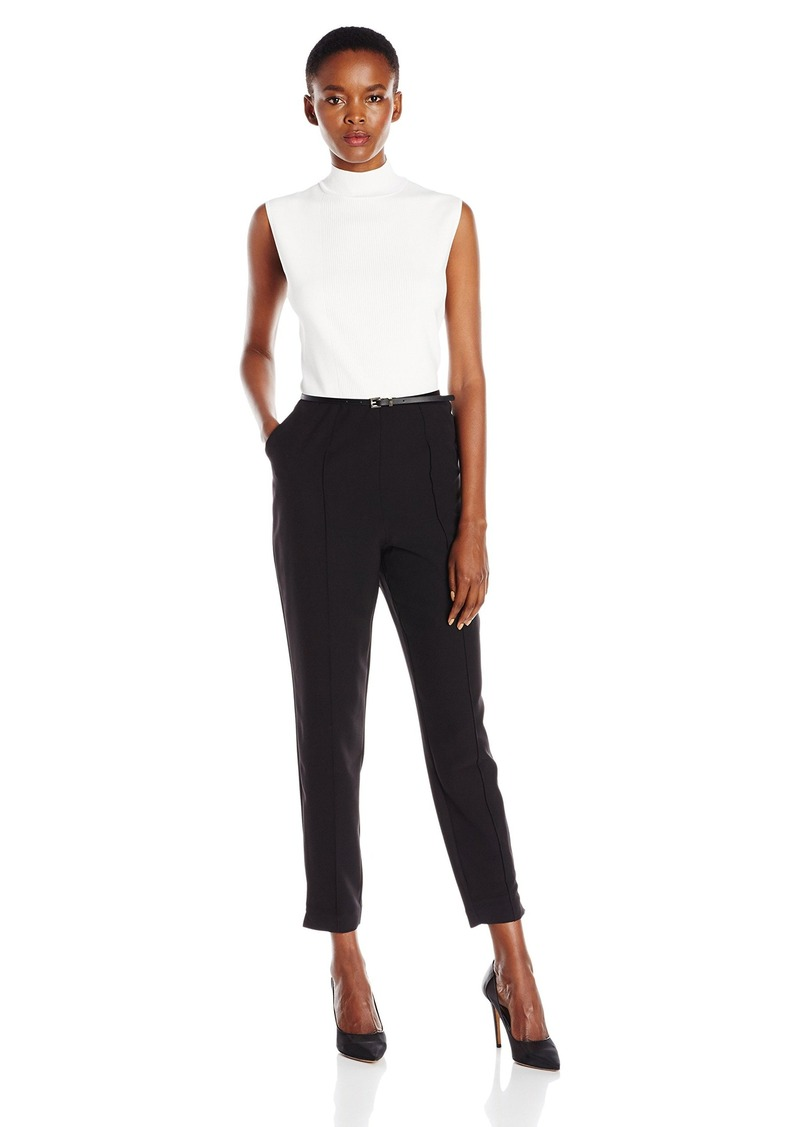 Ted Baker Women's Maciie High Neck Rib Front Jumpsuit