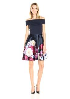 Ted Baker Women's Nersi Blushing Bouquet Bardot Dress