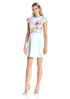 Ted Baker Women's Rivana Hanging Gardens Short Sleeve Skater Dress