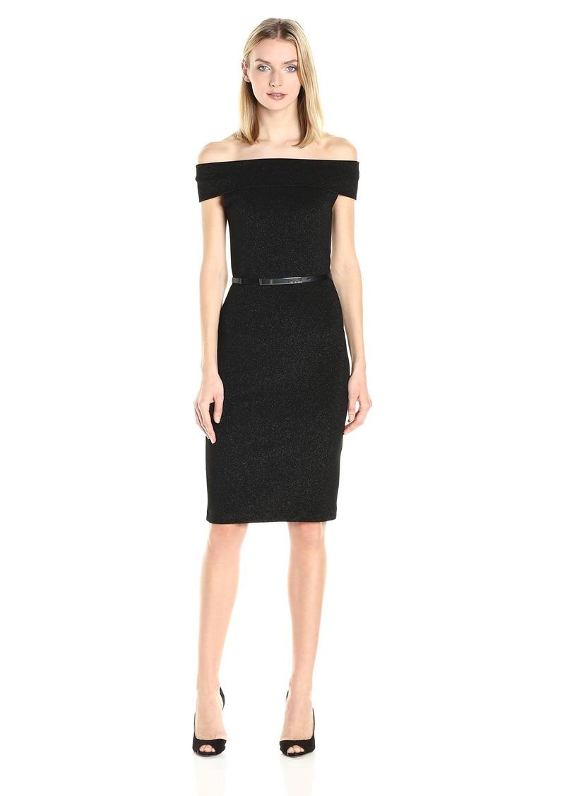 Ted Baker Women's Vindy Bardot Midi Bodycon Dress
