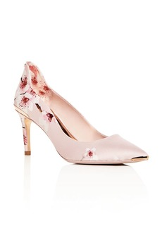Ted Baker Women's Vyixyn Floral Satin Pointed Toe Pumps