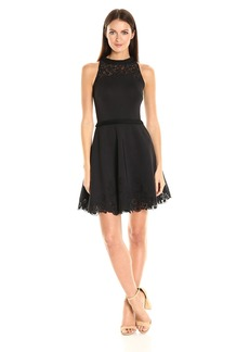 Ted Baker Women's Zaffron Embroidered a Line Pleat Dress