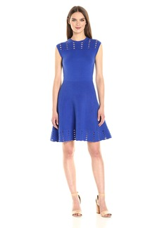 Ted Baker Women's Zaralie Jacquard Panel Skater Dress