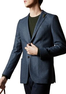 Ted Baker Wool-Blend Herringbone Slim Fit Blazer