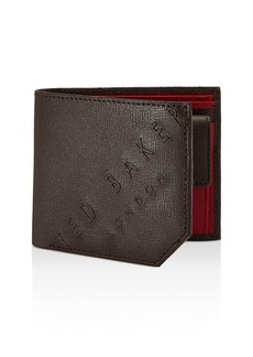 Ted Baker Wuncoin Embossed Leather Bifold Wallet with Coin Pocket