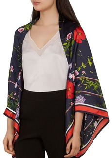 Ted Baker Zurri Hedgerow Silk Cape Scarf