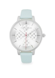 Ted Baker Three-Hand Leather-Strap Watch