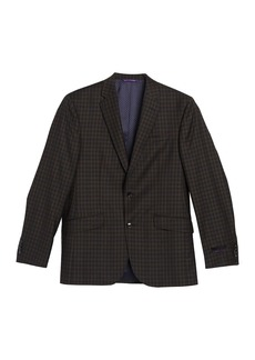 Ted Baker Trim Fit Plaid Print Wool Sport Coat