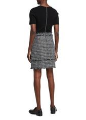 Ted Baker Tweed Combo Mini Mockable Dress