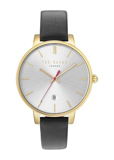 Ted Baker Women's 3 Hand Leather Strap Watch