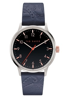 Men's Ted Baker London Cosmop Leather Strap Watch
