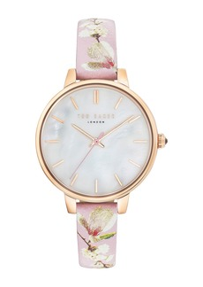 Ted Baker Women's Kate Mother of Pearl Leather Strap Watch, 36mm