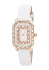 Ted Baker Women's Leather Strap CZ Watch, 24mm x 36.5mm