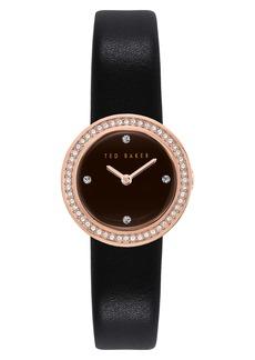 Ted Baker Women's Seerena Swarovski Crystal Leather Strap Watch, 24mm