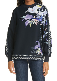 Women's Ted Baker London Decadence Floral Long Sleeve Top