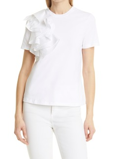 Women's Ted Baker London Frill Detail Relaxed Cotton Top
