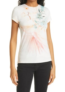 Women's Ted Baker London Printed Fitted T-Shirt
