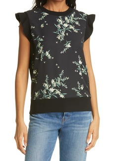 Women's Ted Baker London Zaphira Floral Print Top