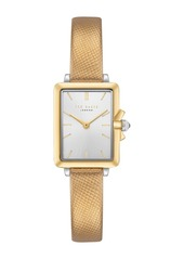 Ted Baker Women's Tess Croc Embossed Leather Strap Watch, 20mm