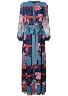 Temperley Aerial printed long dress