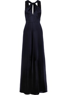 Temperley Aviator open-back satin gown