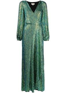 Temperley Billie sequin wrap dress