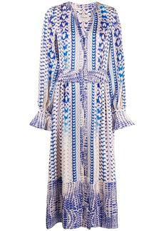 Temperley buttoned abstract-print dress