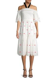 Temperley Calligraphy Cotton Dress