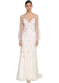 Temperley Celeste Embellished Viscose Dress