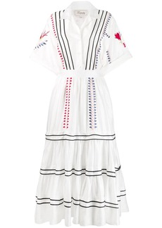 Temperley Cherry Blossom tiered dress