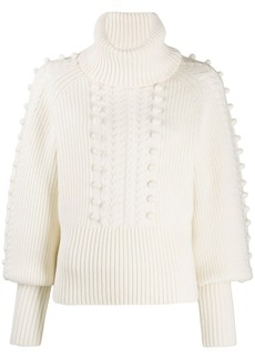 Temperley Chrissie bobble knit sweater