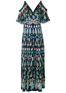 Temperley cold shoulder maxi dress