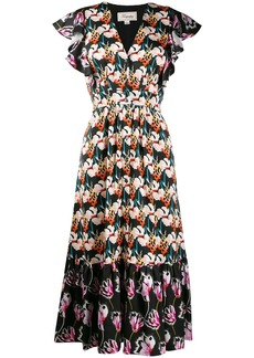 Temperley contrast floral print dress