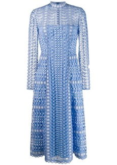 Temperley crochet midi dress