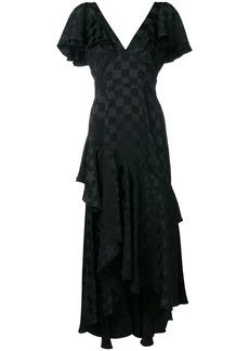 Temperley Cyndie asymmetric ruffle dress