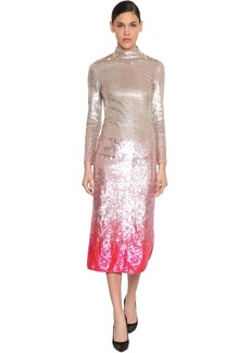 Temperley Degradé Sequined Stretch Tulle Dress