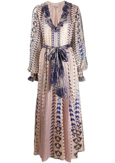 Temperley Delilah snakeskin-print dress