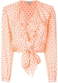 Temperley dot printed ruffle blouse