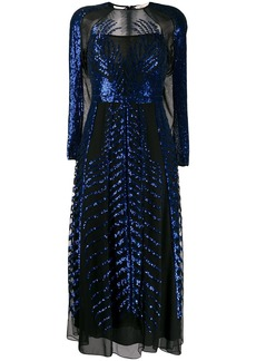 Temperley Dusk sequin-embellished silk dress