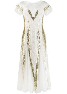 Temperley embroidered cut out dress