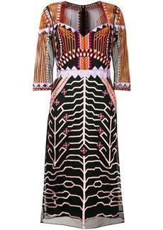 Temperley embroidered design midi dress
